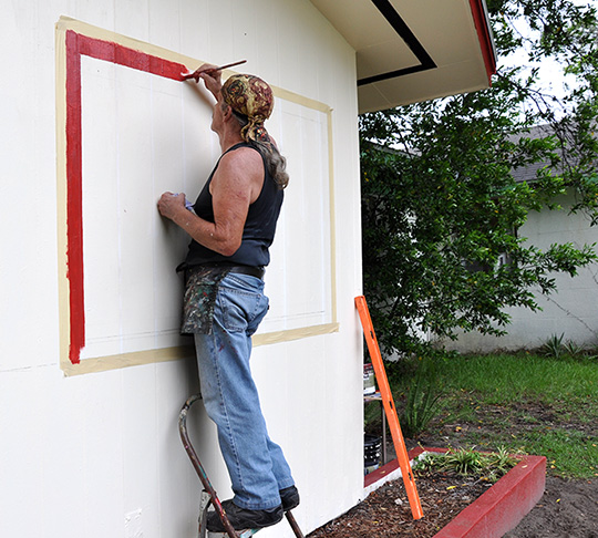 For outdoor murals, I use the highest quality 100% acrylic colors available.